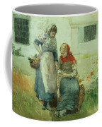Picking Flowers Coffee Mug by Winslow Homer