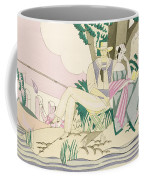Picnic And Fishing Scene Coffee Mug