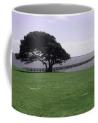 Pier And Tree By The River Coffee Mug