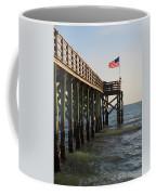 Pier, Flag, Fishing Coffee Mug