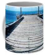 Pier Into The Blue Coffee Mug