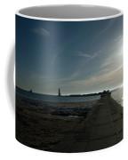 Pier With Sun Coffee Mug