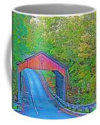 Pierce Stocking Covered Bridge In Sleeping Bear Dunes National Lakeshore-michigan Coffee Mug