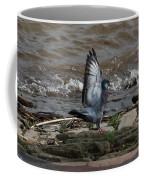 Pigeon With Its Wings Up Coffee Mug