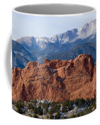 Pikes Peak Over The Garden Coffee Mug