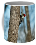 Pileated Billed Woodpecker Pecking 2 Coffee Mug