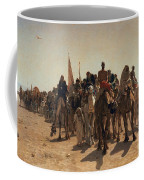 Pilgrims Going To Mecca Coffee Mug by Leon Auguste Adolphe Belly