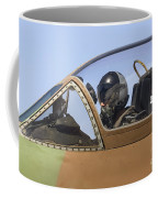 Pilot In The Cockpit Of A Skyhawk Fighter Jet  Coffee Mug