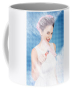 Pin Up Cleaning Lady Washing Glass Shower Door Coffee Mug