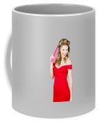 Pin-up Styled Fashion Model With Classic Hairstyle Coffee Mug