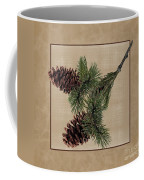 Pine Cone Design Coffee Mug