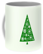 Pine Tree Snowflakes - Green Coffee Mug