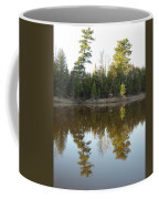 Pine Trees Across Mississippi River Coffee Mug