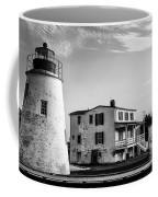 Piney Point Lighthouse - Mayland - Black And White Coffee Mug