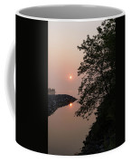 Pink And Green Summer - Soft Misty Sunrise On The Lake Coffee Mug