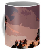 Pink And Mauve Sky Abstract Coffee Mug