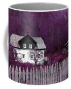 Pink And Purple Enchanted Cottage Coffee Mug