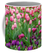 Pink And Purple Tulips At The Spring Floriade Festival Coffee Mug