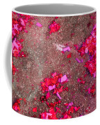 Pink And Red Firecracker Debris Abstract Coffee Mug