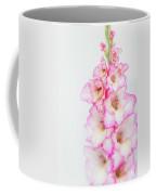 Pink And White Gladiola Coffee Mug