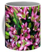 Pink And White Lilies Coffee Mug