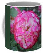 Pink And White Rose Square Coffee Mug
