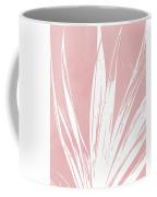 Pink And White Tropical Leaf- Art By Linda Woods Coffee Mug by Linda Woods