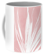 Pink And White Tropical Leaf- Art By Linda Woods Coffee Mug