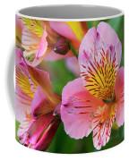 Pink And Yellow Flora Coffee Mug