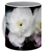 Pink And Yellow On White 3 Coffee Mug