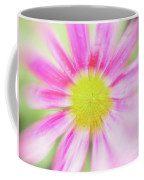 Pink Aster Flower With Raindrops Abstract Coffee Mug by Nick Biemans