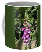 Pink Bell Flowers. Foxglove 03 Coffee Mug
