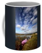 Pink Boat In Scenic Saskatchewan Coffee Mug