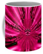 Pink Brocade Fabric Fractal 55 Coffee Mug