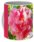 Pink Camellia At Pilgrim Place In Claremont-california  Coffee Mug