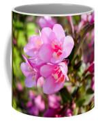 Pink Cardinal Bush Flowers Coffee Mug