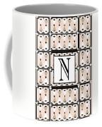 Pink Champagne Deco Monogram  N Coffee Mug