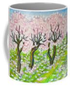 Pink Cherry Garden In Blossom Coffee Mug