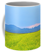 Pink Cloud Over The Mustard Fields Coffee Mug