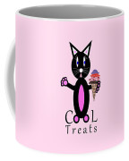 Pink Cool Treats - Cat Typography Coffee Mug