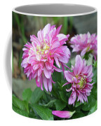 Pink Dahlia Flowers Coffee Mug