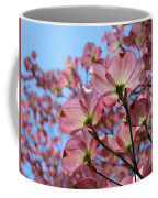 Pink Dogwood Flowers Landscape 11 Blue Sky Botanical Artwork Baslee Troutman Coffee Mug