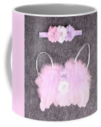 Pink Feather Angel Wings With White-violet Flowers And Headband Coffee Mug