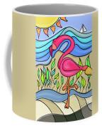 Pink Flamingo Glassy Coffee Mug
