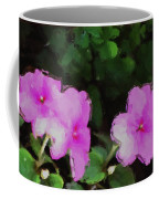 Pink Floral Watercolor Coffee Mug