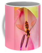 Pink Flower Fly Coffee Mug