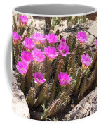 Pink Flowers In The Desert Coffee Mug