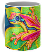 Pink Frog On Leafs Coffee Mug