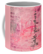 Pink Gray Abstract Coffee Mug