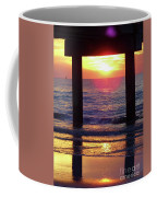 Pink Heart Sun Flare Clearwater Sunset Coffee Mug